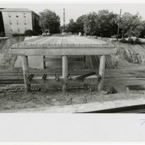 Construction of Pullen Park bridge
