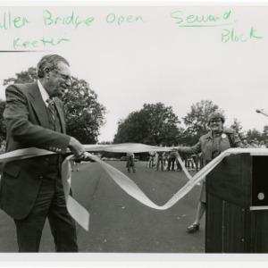 Ribbon cutting for new Pullen Park bridge