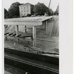 Construction of Pullen Park bridge, over train tracks