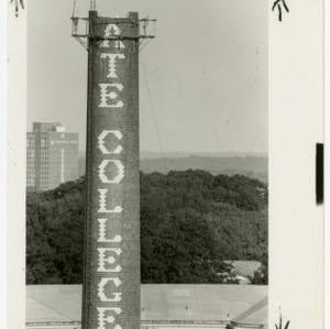 State College Smokestack under construction