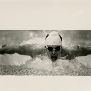 400 medley relay in mens NCSU swimming versus Miami