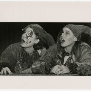 Two student jesters at Thompson Theatre