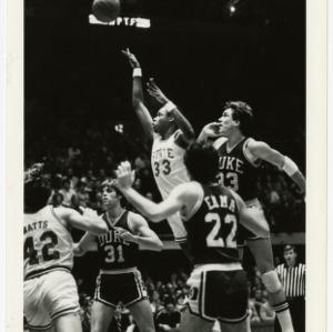 NC State basketball takes a shot against Duke