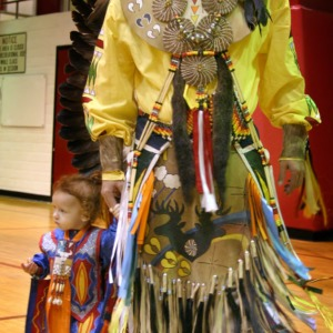 Father-Daughter dance at NC State's Native American Student Association Pow Wow