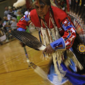 Ceremony at NC State's Native American Student Association Pow Wow