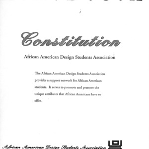 African American Design Student Association (AADSA) constitution