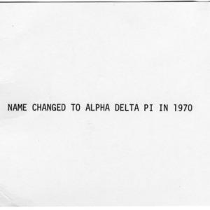 Alpha Delta Pi constitution