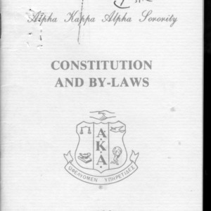 Alpha Kappa Alpha constitution
