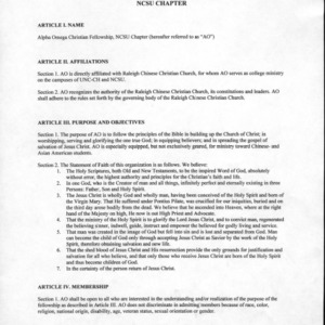 Alpha Omega constitution