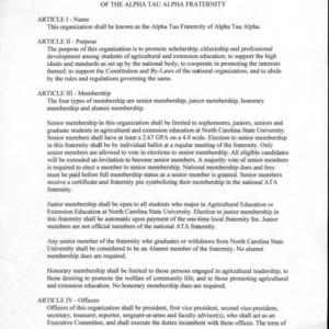 Alpha Tau Alpha constitution