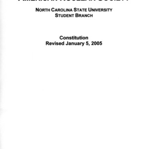 American Nuclear Society constitution