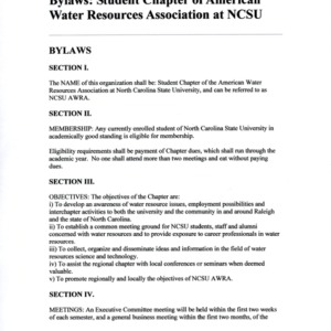 American Water Resources Association at NCSU constitution
