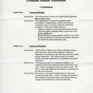 Architecture Graduate Student Association constitution