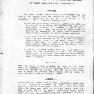 Asian Student Association constitution