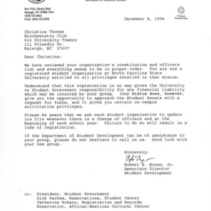 Biochemistry Club constitution