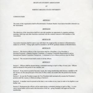 Bioinformatics Graduate Student Association constitution