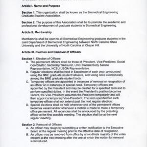 Biomedical Engineering Graduate Student Association constitution