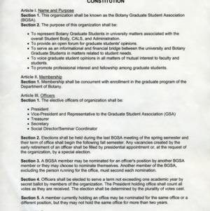 Botany Graduate Student Association constitution