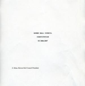 Bowen Hall Council constitution