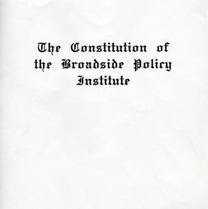 Broadside Policy Institute constitution
