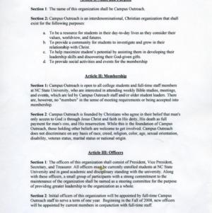 Campus Outreach constitution