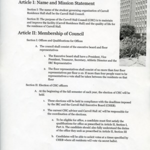Carroll Hall Council constitution
