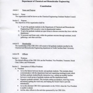 Chemical Engineering Graduate Student Council constitution