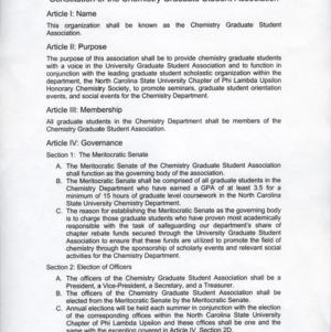 Chemistry Graduate Student Association constitution