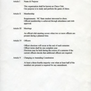 Chess Club constitution