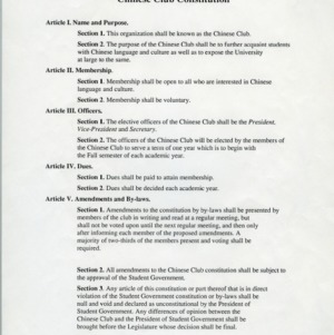Chinese Club constitution