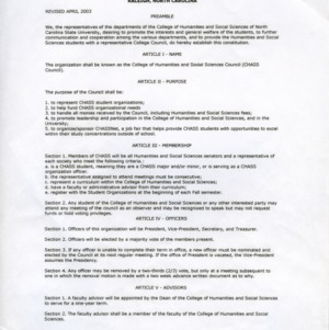 CHASS Council constitution