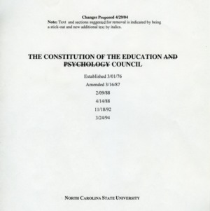 College of Education Advisory Council constitution