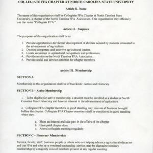 Collegiate 4-H constitution
