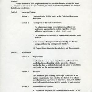 Collegiate Horseman's Association constitution