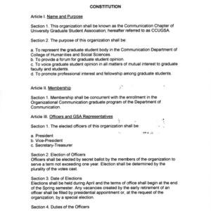 Communication Graduate Students Association constitution