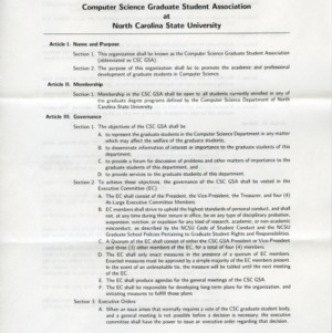 Computer Science Graduate Student Association constitution