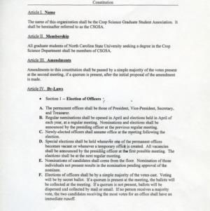 Crop Science Graduate Student Association constitution