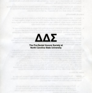 Delta Delta Sigma Predental Honor Society constitution