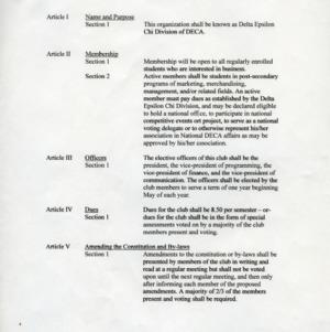 Delta Epsilon Chi constitution