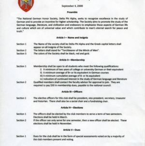 Delta Phi Alpha constitution