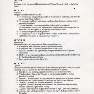 Delta Tau Alpha (Honor Society) constitution