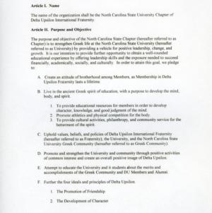 Delta Upsilon International Faternity constitution