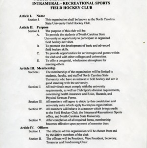 Field Hockey Club constitution