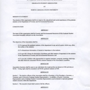 Forestry and Environment Resources GSA constitution