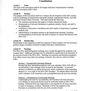 Higher Education Administration GSA constitution