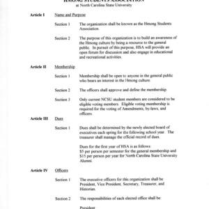 Hmong Student Association constitution
