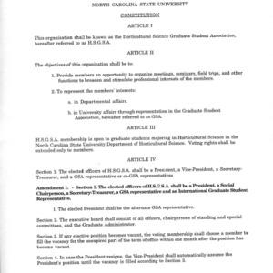 Horticulture GSA constitution