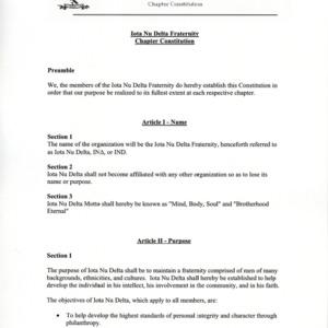Iota Nu Delta Fraternity, Inc. constitution