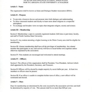 Islam and Dialogue Student Association constitution
