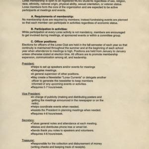 Lorax Environment Club constitution